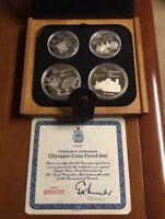 1976 CANADIAN OLYMPIC 4 PIECE COMMEMORATIVE SILVER COIN SET