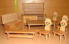 Puppenstube Puppenhaus Möbel Holz ca. 60er Jahre 8 Teile