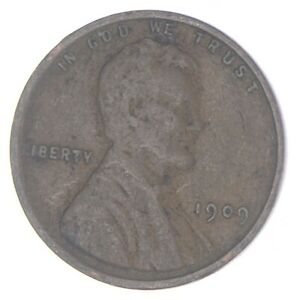 XF+ 1909 Lincoln Wheat Cent - 1st Year Issue - Great Condition *842