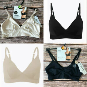 Ex M&S Black Nude Body Smoothing Non-Wired Soft Comfortable Bra Bralette