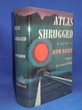 ATLAS SHRUGGED by Ayn Rand, 1957, First Edition 1st Print, Facs DJ