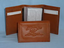 FORD MUSTANG    Leather TriFold Wallet    NEW    brown 2