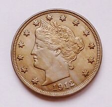 1912-P U.S. LIBERTY HEAD / V NICKEL ~ ALMOST UNCIRCULATED CONDITION