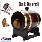 1.5L Wood Oak Timber Wine Barrel For Beer Whiskey Rum Port Keg with Oak Stand US