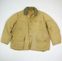 Vtg 60s 70s Canvas Hunting Jacket Sun Faded Brown Talon Zip Workwear 2XL/3XL?