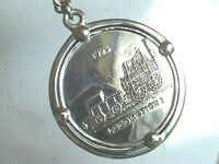 Key Chain with 1oz Mexican .999 Fine Silver Coin Medallion 70 grams
