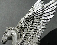 Pegasus Horse Sculpture Statue Art Mythical Figure Pewter Figurine Winged Greek