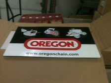 """OREGON CHAINSAW CHAIN EMBOSSED ALUMINUM  SIGN - APPROX. 15"""" X 25"""" NEW"""