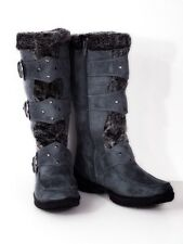 Women's Fur Trimmed Cute and Warm Buckle Boots!