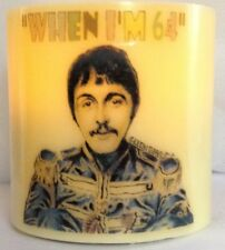THE BEATLES When I'm 64 ELECTRONIC FLICKERING CANDLE 64th birthday FLAMELESS