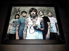 "BRING ME THE HORIZON PP SIGNED & FRAMED 10""X8"" INCH PHOTO REPRO OLI SYKES"