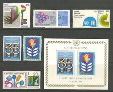 UN-New York #316/342, 1980 Annual Set (less #325-340), Unused NH