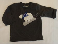 GYMBOREE 12-18 Month Snowboard Legend Reversible Bear Front Shirt Top NWT