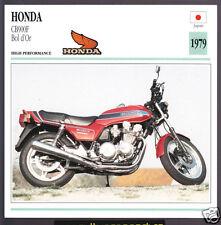 1979 Honda CB900F Bol d'Or (901cc) Japan Bike Motorcycle Photo Spec Info Card
