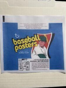 1972 Topps Baseball Posters Wax Wrapper Print