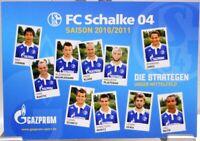 Postkarte Fußball + FC Schalke 04 + Die Strategen der Saison 2010/2011 + #190419