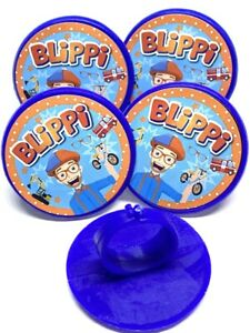 Blippi Party Supplies Cupcake Toppers Cake Decorations Rings Favors - Pack of 16
