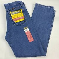 NWT Wrangler Rustler Denim Jeans Mens 31x32 Blue Regular Fit Straight Leg Cotton