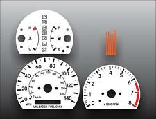 1997-2001 Toyota Camry Dash Instrument Cluster White Face Gauges