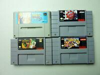 SNES / Famicom lot 4 Games - Street Fighter II Turbo, NBA Jam, Dragon Ball Z 2