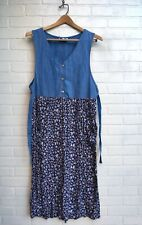 Vintage 90s Grunge Mom Dress Floral Skirt Womens Large