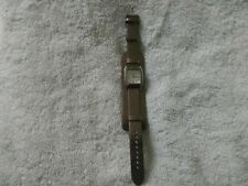 Fossil watch metallic silver/bronze leather band w/ silver face, BEAUTIFUL!!!