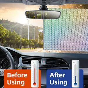 Car Retractable Sunshade Front Window Windshield Sun Shade Cover Visor 50*125cm