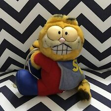 "Vintage Dakin Garfield ""Super Cat"" Window Cling Stick Up 6"" Plush Toy Car"