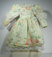 """Flowered Dress with Lace Edging with Bloomers for a 15"""" Doll"""
