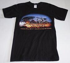 Harley-Davidson 2002 Las Vegas, Nevada Flaming Motorcycle T-Shirt Size - Small