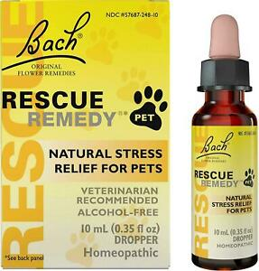 Bach Rescue Remedy Natural Stress Relief For Pets Liquid 0.35 oz