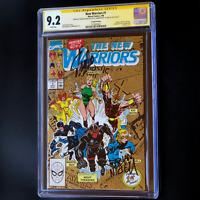 New Warriors #1 💥 3X SIGNED STAN LEE + BAGLEY + NICIEZA 💥 CGC SS Origin 2nd