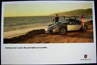 PORSCHE CAYMAN SURFBOARD SHOWROOM ADVERTISING POSTER 2007 - 2009 USA NEW RARE
