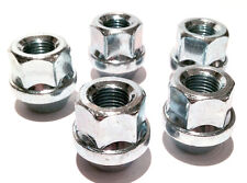 5 x alloy wheel open ended nuts bolts for Ford. M12 x 1.5 19mm Hex Tapered Seat