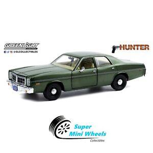Greenlight 1:24 - Hunter (1984-91 TV Series) - 1977 Dodge Monaco (Green)