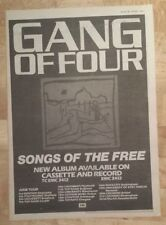 Gang of Four Songs of the free  1982 press advert Full page 27 x 38 cm poster