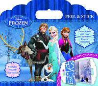 Disney Frozen Characters Peel and Stick Reusable Vinyl Stickers Stationery