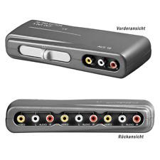 3 fach Cinch Audio Video Umschaltbox, Verteiler Schalter RCA AUX Selector Switch