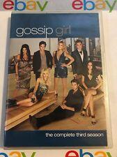 Gossip Girl The Complete Season 3 DVD Good Free Shipping!!!