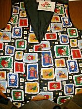 NEW Ugly Christmas Vest Womens Small made by Nutcracker TEDDY BEARS