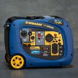 Brand New Firman Whisper Hybird series 3300-Watt Gasoline/Propane Portable Inver