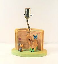 VINTAGE DOLLY TOY COMPANY WALT DISNEY'S BAMBI AND THUMPER PLASTIC LAMP TESTED