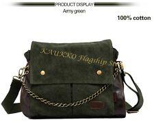 Messenger Bag Schulter Tasche Canvas in schwarz und grün Schultertasche   (FJ28)