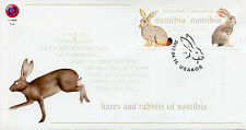 Namibia 2017 FDC Hares & Rabbits 2v Set Cover Wild Animals Stamps