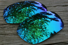 Jade Green Blue Custom Mirrored Replacement Sunglass Lenses for Oakley Jawbone