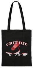 Crit Hit Shopper Shopping Bag Nerd Fun Dinosaurs PC RPG MMORPG Gamer Dices Dice