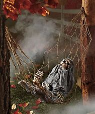 Halloween Skeleton Prop Yard Hanging Spooky Decoration Animated Sound Motion NEW
