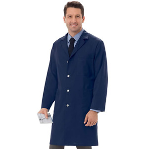 Meta Unisex 40 Inch Long Lab Coat With Three Outside Pockets Size Extra Small XS