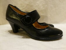 SOFTSPOTS SHANDIE LEATHER BLACK MARY JANE LOW HEEL PUMPS WOMENS SHOES 6.5 M $75