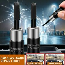 2Pcs Car Automotive Glass Nano Repair Fluid Kit Window Glass Crack Repair Tools